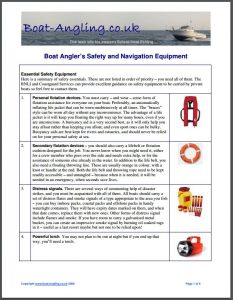 boat safety equipment guide