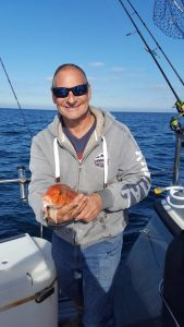 Tim Andrews winning Cuckoo Wrasse