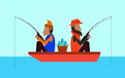 2 Anglers joke fishing